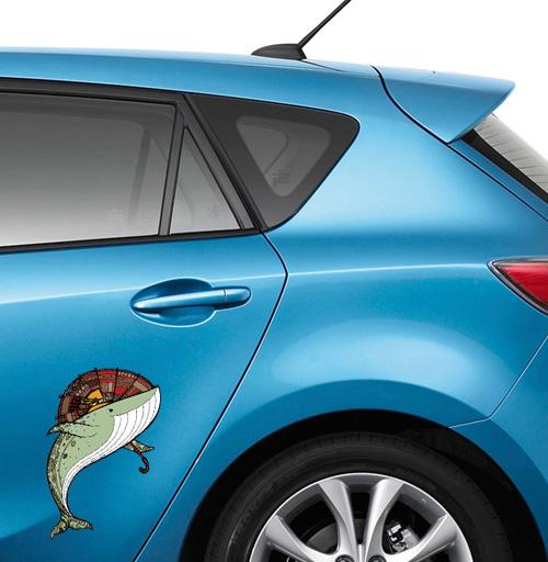 Киты - наклейки на авто