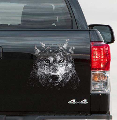 Волчище - наклейки на авто
