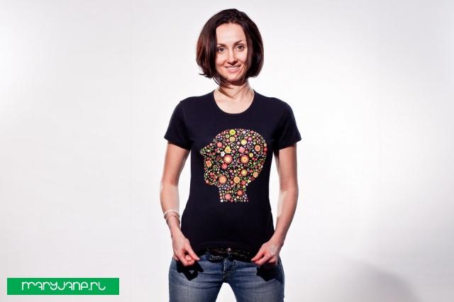 Клумба - фото футболки