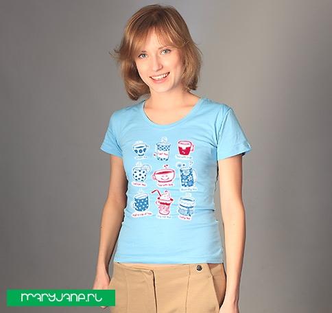 Приятного чаепития! - фото футболки