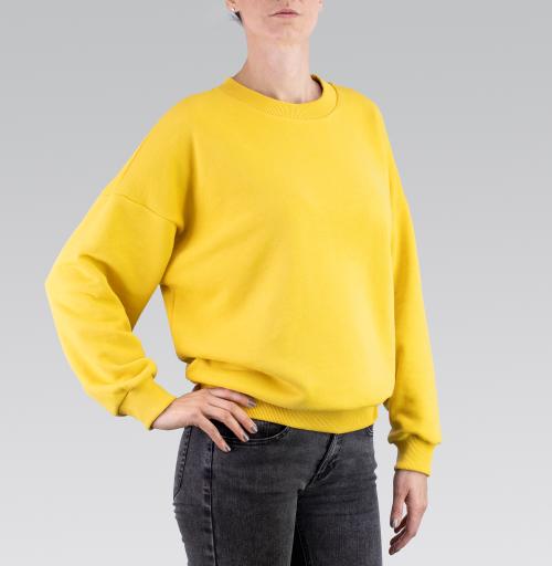 Cвитшот женский оверсайз 3D - Единорог в цветах