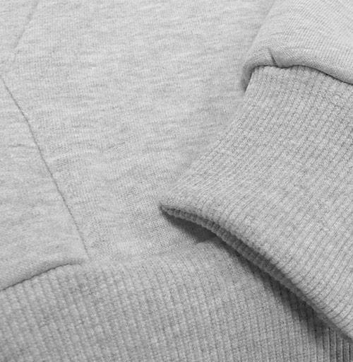 Толстовка мужская, накладной карман серый меланж - Уютный новогодний пес