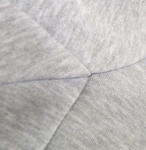 Свитшот мужской серый-меланж  320гр, стандарт - Оригами голубь мира