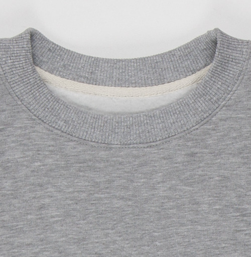 Свитшот мужской серый-меланж  320гр, стандарт - Отмороженка - графика