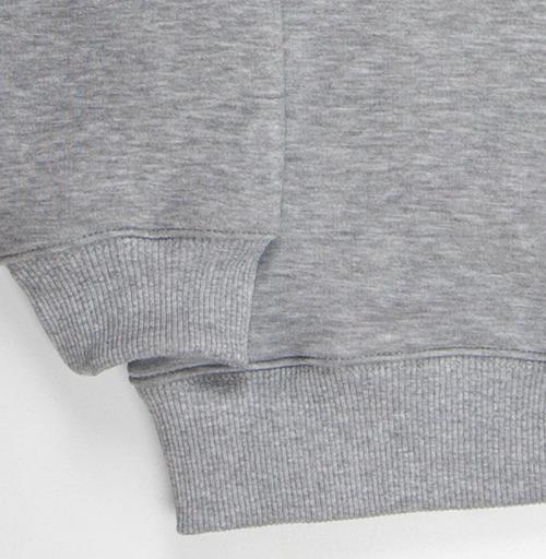 Свитшот мужской серый-меланж  320гр, стандарт - STALIO