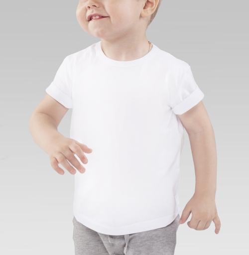 Детская футболка белая 160гр - Feel the power of music