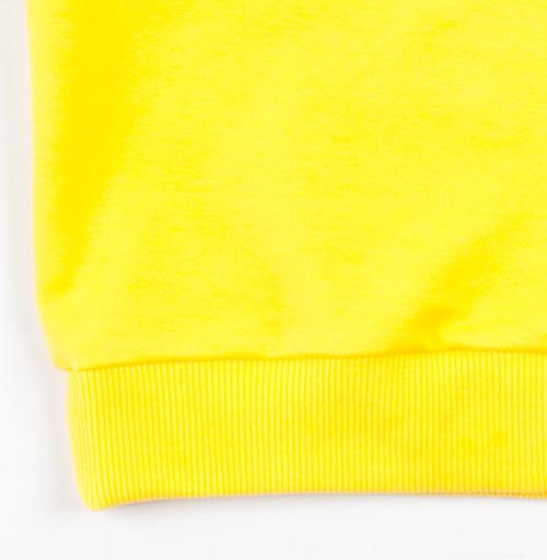 Cвитшот Детский желтый 240гр, тонкая - Паттерн с летучими мышами