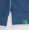 Cвитшот мужской, джинс 320гр, стандарт - Уютный новогодний пес
