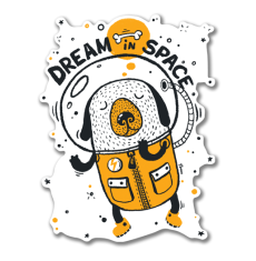 Dream in space - Индеец наклейка на авто