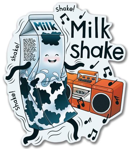 Наклейка на Ноутбук Macbook Pro 2016-2018 – Macbook Pro Touch Bar MilkShake!,  купить в Москве – интернет-магазин Allskins, музыка, еда, ноты, танцы, коктейль, молочный
