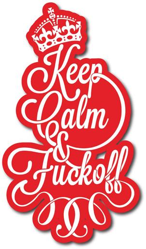 Наклейка на Телефон Apple iPhone 4S, 4 Keep Calm & Fuck off,  купить в Москве – интернет-магазин Allskins, keep_calm, корона, Англия, надписи, типографика, прикольные надписи, english