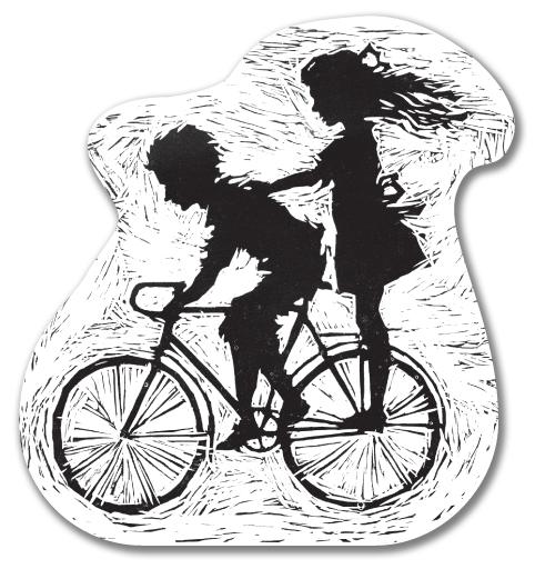 Наклейка на Телефон Apple iPhone 4S, 4 Летнее, велосипедное,  купить в Москве – интернет-магазин Allskins, черно-белое, парные, детские, для влюбленных, радость, лето, дружба, велосипед, любовь, 8 марта