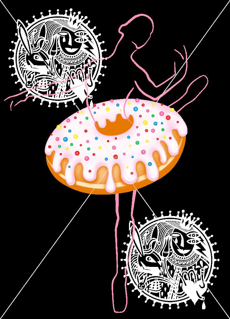 Много пончиков обои оригинальный ламбрекен