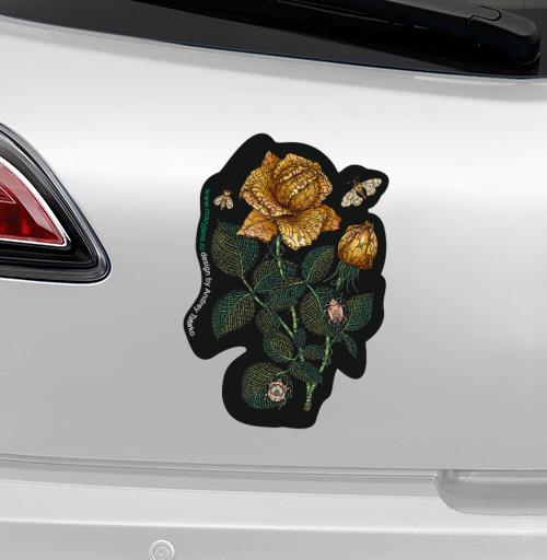 Наклейка на Ноутбук Macbook Pro 2008-2013 – Macbook Pro Fantastic flower,  купить в Москве – интернет-магазин Allskins, зеленый, желтый, Цветочек, цвет, цветы, фантазия, фантастика, иллюстация