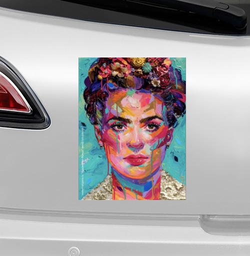 Наклейка на iPod&MP3 Apple iPod nano  7th gen. Художница Фрида,  купить в Москве – интернет-магазин Allskins, фрида, кало, Мексика, художница, цветы, красота, образ, плакат, лицо