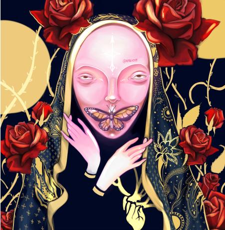 Наклейка на iPod&MP3 Apple iPod Classic Инсомния,  купить в Москве – интернет-магазин Allskins, красота, современное, демоны, кукла, ба, бабачка, розы, руки, накидка, человек