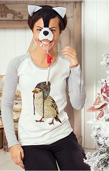 Реглан женский Птица в шапке