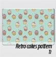 Защитная наклейка на ноутбук Retro cakes pattern