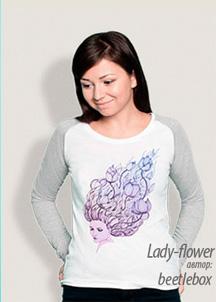 Реглан женский Lady-flower