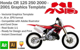 CR 125 250 MX Motocross 2000 2001