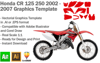 CR 125 250 MX Motocross 2002-2007