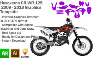 CR WR 125 MX Motocross 2009-2013