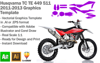 TE TC 449 511 MX Motocross 2011-2013