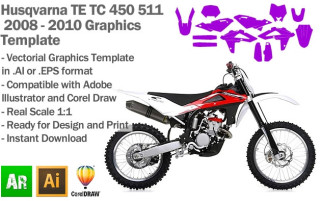 TE TC 450 511 MX Motocross 2008-2010