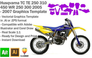 TC TE 250 310 450 WR 250 300 MX Motocross 2005-2007