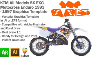 SX EXC MX Enduro All Models 1993-1997