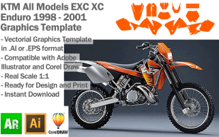 EXC XC Enduro All Models 1998-2001