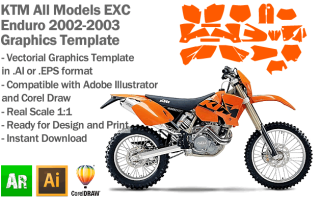 EXC XC XCF Enduro All Models 2002 2003