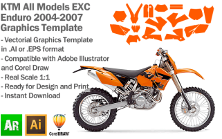 EXC XC XCF Enduro All Models 2004-2007