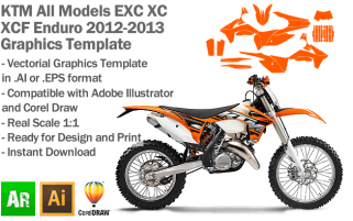 EXC XC XCF Enduro All Models 2012 2013