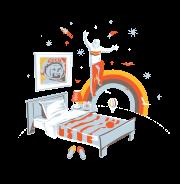 Прыжки на кровати или вечерний ДЖАмп - футболки на заказ