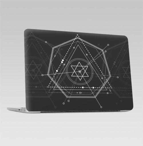 Наклейка на Ноутбук Apple Macbook Pro с Touch Bar Магический маятник времени,  купить в Москве – интернет-магазин Allskins, сакральное, геометрия, космос, геометрический