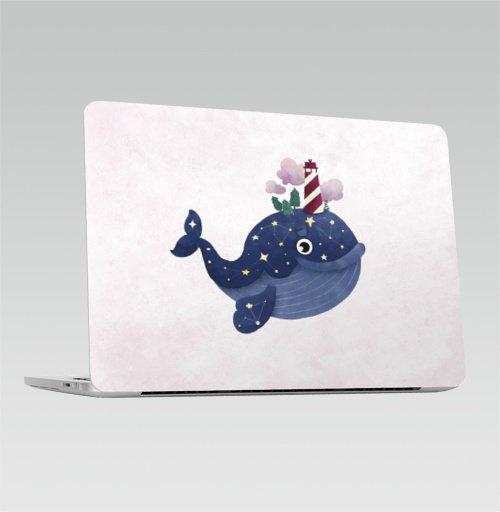 Наклейка на Ноутбук Apple Macbook Pro с Touch Bar Кит хранитель маяка,  купить в Москве – интернет-магазин Allskins, киты, маяк, морская, звезда, космос, нежность, нежный, небо
