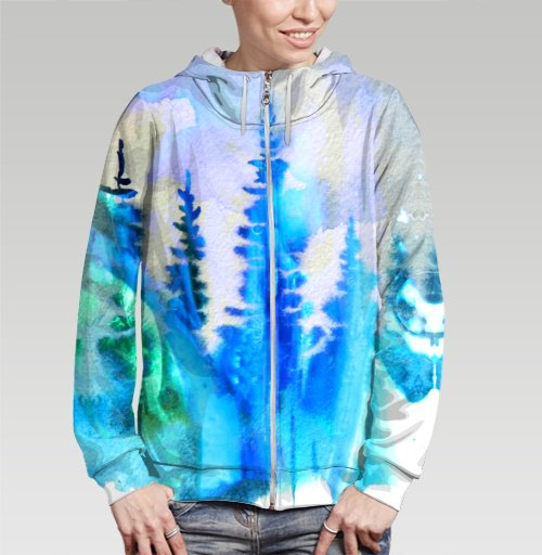 Магия северных лесов, Atman, Магазин футболок Atman, Толстовка женская на молнии 3D