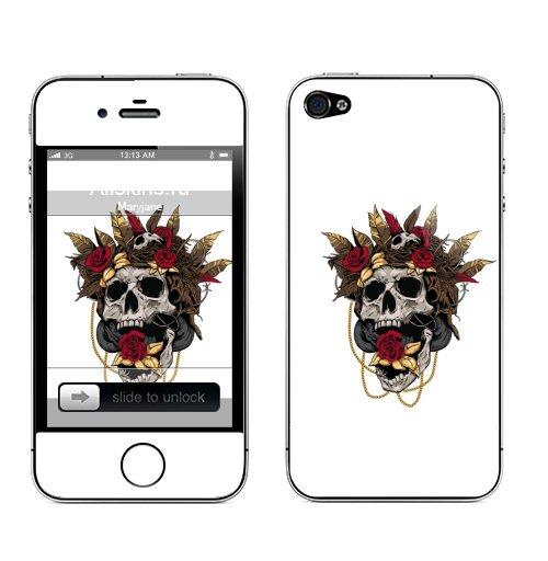 Наклейка на Телефон Apple iPhone 4S, 4 Гнездо кукушки,  купить в Москве – интернет-магазин Allskins, череп