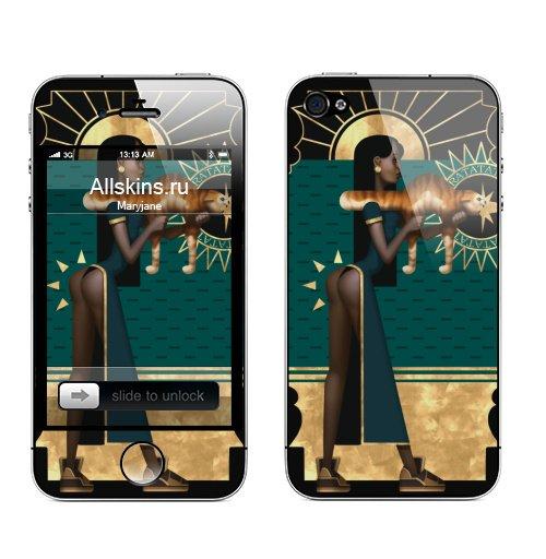 Наклейка на Телефон Apple iPhone 4S, 4 Рататата,  купить в Москве – интернет-магазин Allskins, кошка