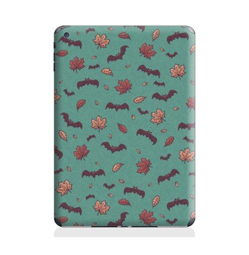 Наклейка на Планшет Apple iPad Air 2 Паттерн с летучими мышами,  купить в Москве – интернет-магазин Allskins, мышь, осень, мультяшная, зеленый, листья, хэллоуин, животные, паттерн, летучая
